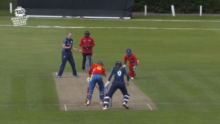 ICC T20WC Qualifier: SCO v NAM - Rachel Hawkins 2/9, highlights