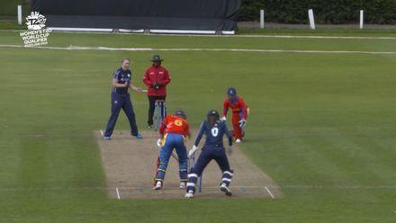 ICC T20WC Qualifier: SCO v NAM - Rachel Hawkins 2/9, highlights