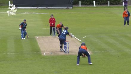 ICC T20WC Qualifier: NED v USA - Erica Rendler is caught second ball