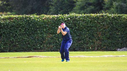 Rachel Hawkins takes the catch to dismiss Sune Wittmann