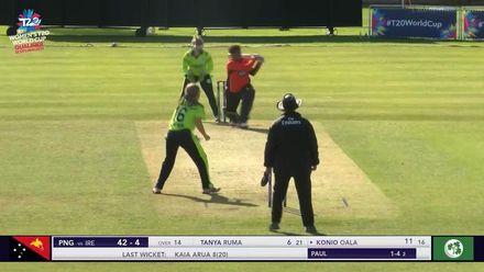 ICC T20WC Qualifier: IRE v PNG - Oala hits a huge six