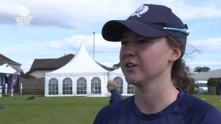 ICC T20WC Qualifier: SCO v NED - Kathryn Bryce pre-match interview