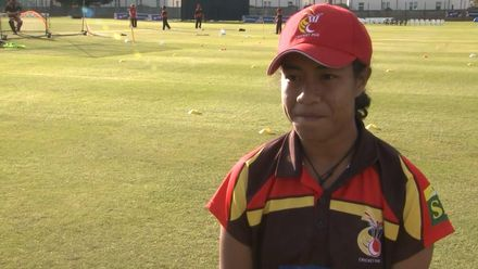 ICC T20WC Qualifier: IRE v PNG - Brenda Tau pre-match interview