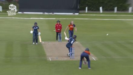 ICC T20WC Qualifier: SCO v NED - Sarah Bryce 65, highlights
