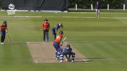 ICC T20WC Qualifier: SCO v NED - Katherine Fraser two in two