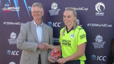 ICC T20WC Qualifier: IRE v PNG - Player of the Match, Kim Garth interview