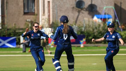 Scotland v Netherlands, 5th Place Play-off, ICC Women's T20 World Cup Qualifier at Arbroath, Sep 7 2019