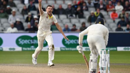 Josh Hazlewood strikes the killer blow, traps Craig Overton leg-before
