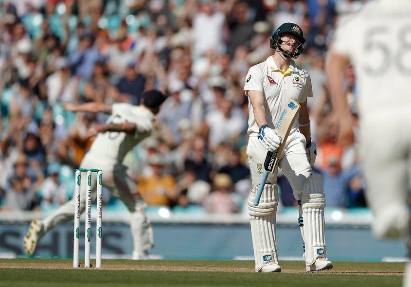 Smith's dismissal prompted jubilant celebration amongst the England players