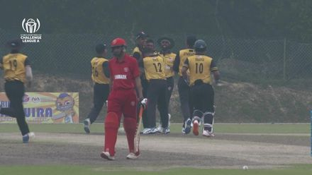 ICC CWC Challenge Group A – DEN v MAS: Denmark get bowled out