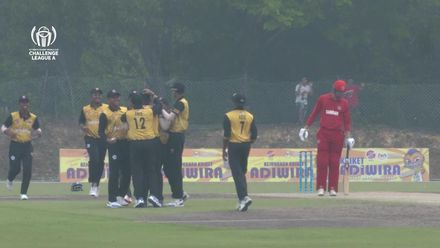 ICC CWC Challenge Group A – DEN v MAS: First-ball duck for Denmark's Henriksen