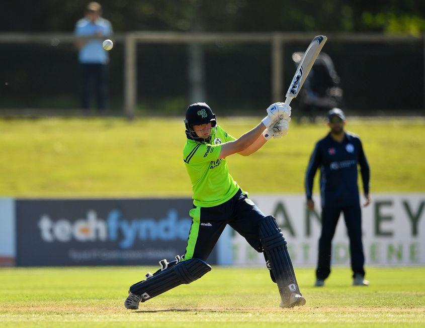 Gareth Delany smashed his maiden T20I half-century
