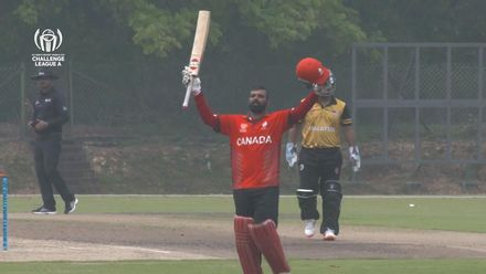 ICC CWC Challenge Group A: Canada captain Navneet Dhaliwal brings up his hundred