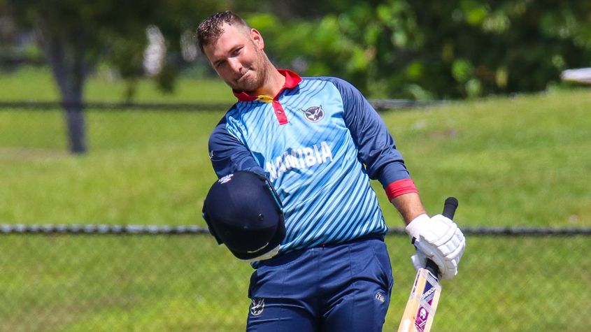 JP Kotze's century was the first in ODIs for Namibia and the first in the CWC League Two