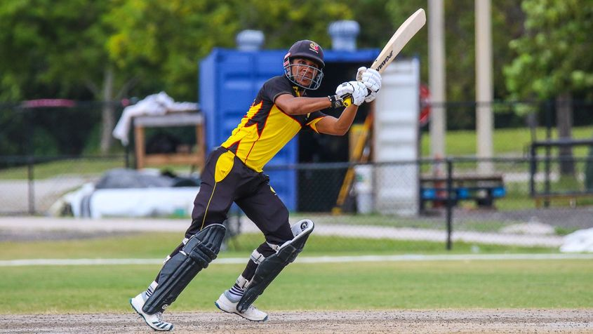 Charles Amini top scored for PNG with 44