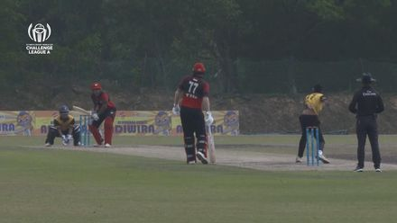 ICC CWC Challenge Group A – MAL v SIN: Fifties for Param and David in the same over