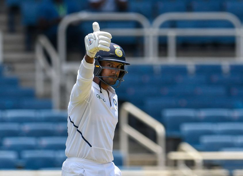 Mayank Agarwal scored his second Test double century in the first game in Indore