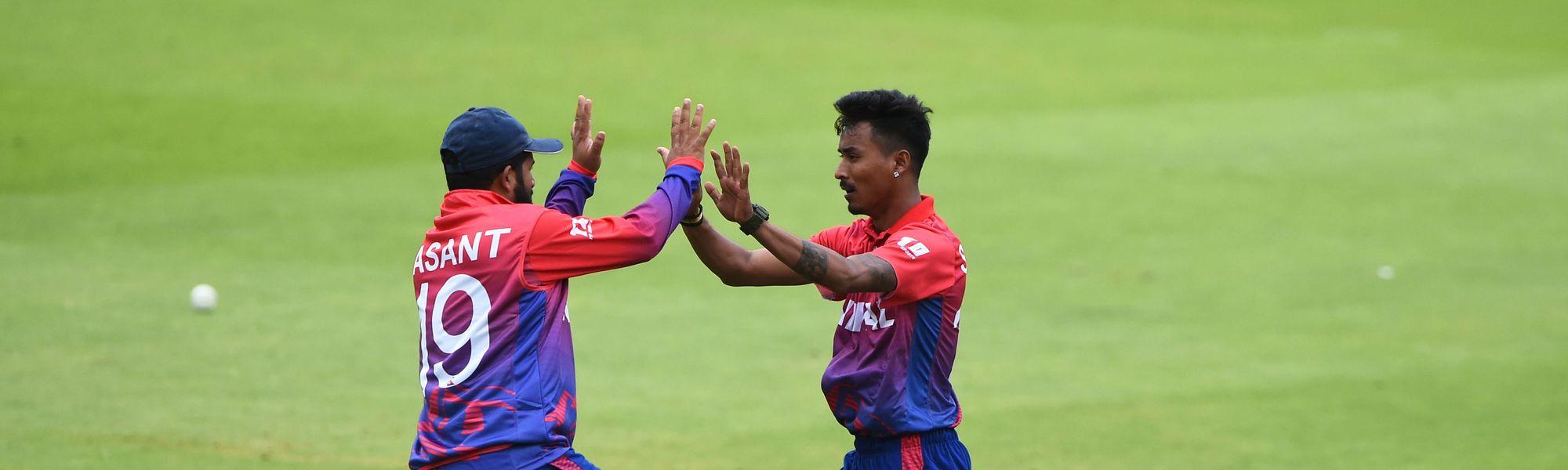 Nepal men's team is preparing for a quadrangular series in Qatar