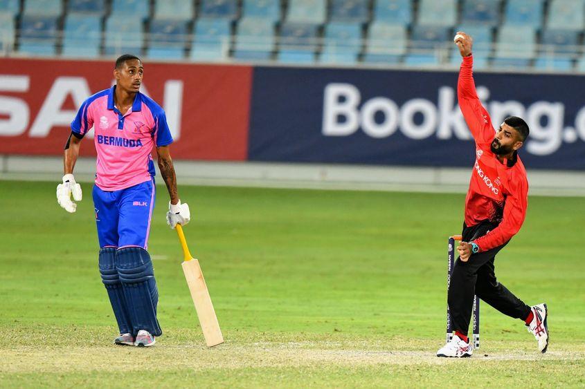Hong Kong's Waqas Barkat enjoyed a strong all-round game against Bermuda