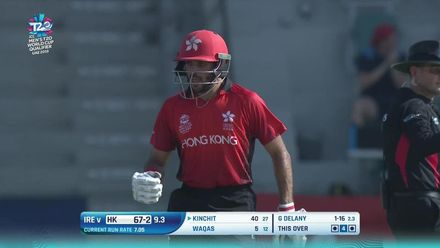 T20WCQ: HK v Ire –Kinchit hits Delany into the stands