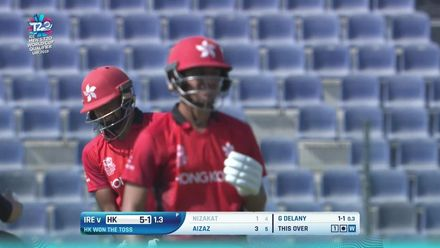 T20WCQ: HK v IRE - Gareth Delany picks up an early wicket