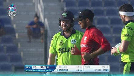 T20WCQ: HK v Ire – Stirling falls for an excellent 62