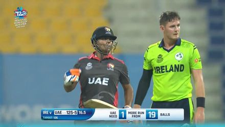 T20WCQ: IRE v UAE – Highlights of UAE's five-wicket win