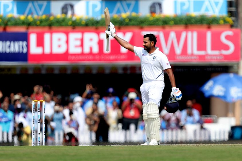 Rohit Sharma brought up India's third double hundred of the series