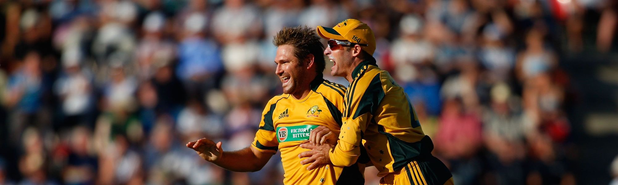 Ryan Harris and Mike Hussey