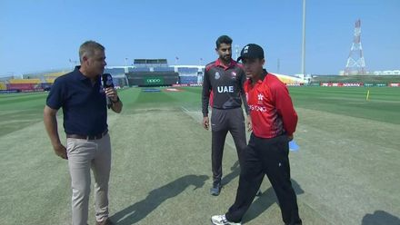 T20WCQ: HK v UAE – Toss and pre-match interviews