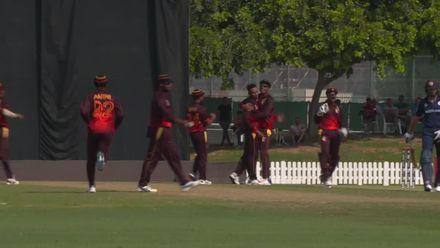 T20WCQ: Sco v PNG: Norman Vanua dismisses Calum MacLeod