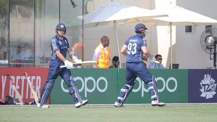 PNG v Scotland, 14th Match, Group A, ICC Men's T20 World Cup Qualifier at Dubai, Oct 21 2019.