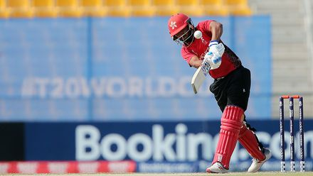 UAE v Hong Kong, 15th Match, Group B, ICC Men's T20 World Cup Qualifier at Abu Dhabi, Oct 21 2019.