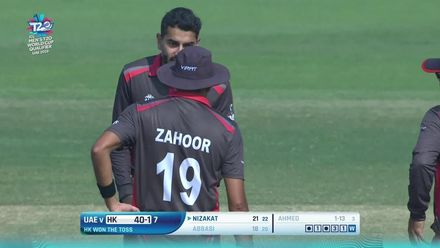 T20WCQ: HK v UAE – Raza gets UAE the breakthrough