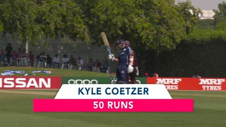 T20WCQ: Sco v PNG – Kyle Coetzer reaches his fifty
