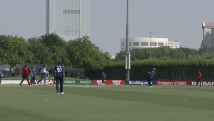 T20WCQ: Sco v Nam – Mark Watt takes high catch for first Namibia wicket