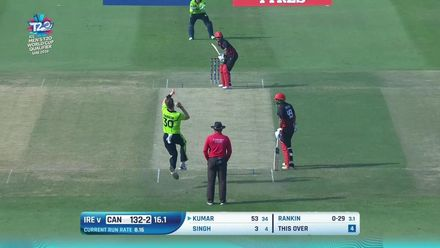 T20WCQ: IRE v CAN – Nitish Kumar falls after third fifty in a row