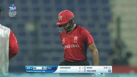 T20WCQ: HK v JSY – Ben Ward picks up 3/19