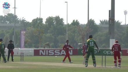 T20WCQ: Oma v Ngr – Isaac Okpe bowled by Aamir Kaleem