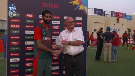 T20WCQ: SIN v KEN – Irfan Karim, Player of the Match