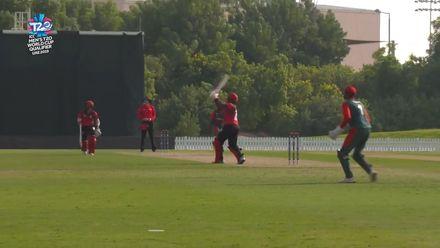 T20WCQ: SIN v KEN – Aritra Dutta strikes a six