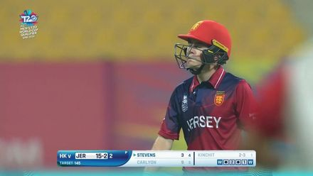 T20WCQ: HK v JSY – Kinchit Shah gets his second of the over