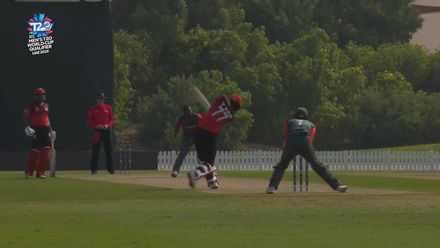 T20WCQ: SIN v KEN – Tim David caught by  Collins Obuya