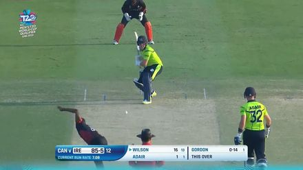 T20WCQ: IRE v CAN – Wison is castled by Gordon