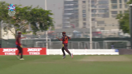 T20WCQ: NED v PNG – Ten Doeschate run out by direct hit