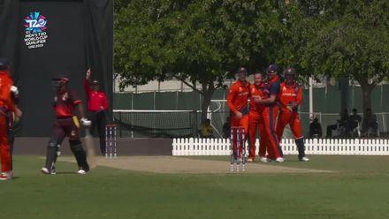 T20WCQ: NED v PNG – Siaka falls first ball