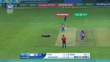 T20WCQ: SCO v BER – Safyaan Sharif takes a blinder