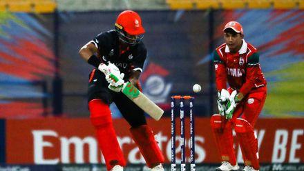 Nicholas Kirton bats against Oman