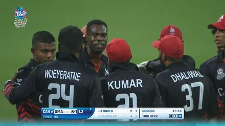 T20WCQ: OMA v CAN – Oman lose two wickets in their chase