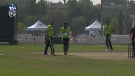 T20WCQ: IRE v JSY – Gareth Delany has Corey Bisson stumped for one